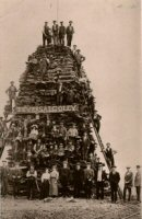 Teversal Colliery bonfire circa 1910 thought to be Coronation bonefire