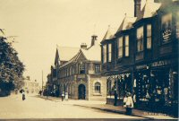 Alfreton High Street, showing Post Office & Shops circa 1910