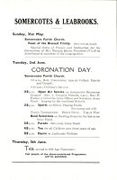 Somercotes & Leabrooks Coronation Day Programme of Events 1953
