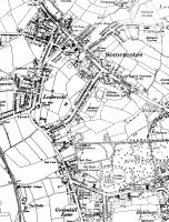 Map of Somercotes & Riddings marked are Picture Theatre and Old English Gentlemen at Somercotes