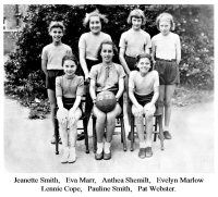 Somercotes School Girls Team (Netball or Football not sure) 1951