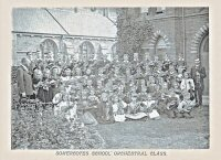 Somercotes Boys School Orchestral class circa 1912