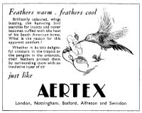 Newspaper advertisement for Aertex underwear