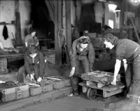The Casting shop at Riddings foundry during World War II.