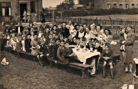 Ve Day celebrations on Sleetmoor Lane Somercotes in August 1945.