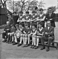 Ripley & Heanor newspaper photograph, Somercotes wins Alfreton Schools Knockout Cup 3rd April 1968.