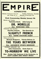 Newspaper Advertisement for the Somercotes Empire Cinema for the week 9th to the 15th January 1950.